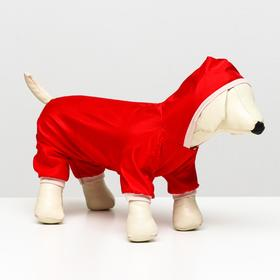 Jumpsuit for dogs, size L (HB 30 cm, OR 38 cm), red
