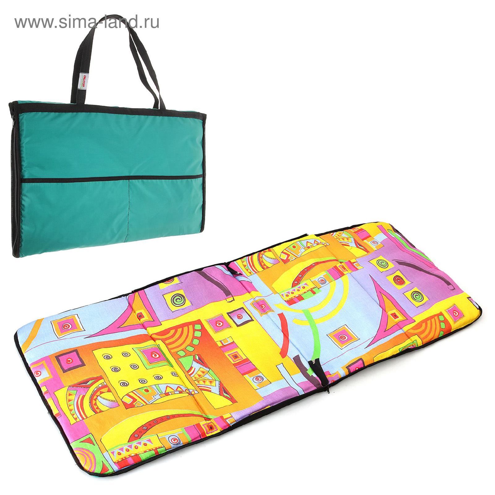 Коврик-сумка для фитнеса, пляжа, йоги, размер 135 х 53 см, цвета ... 556f8e82e96