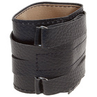Wristband genuine leather + NAT.suede, for weightlifting, reinforced-art Suite 204