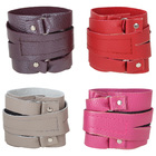 Wristband made of genuine leather, for fitness, MIX color