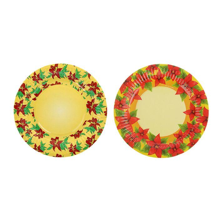 """Тарелка с ламинацией """"Огненный цветок"""", 18 см"""