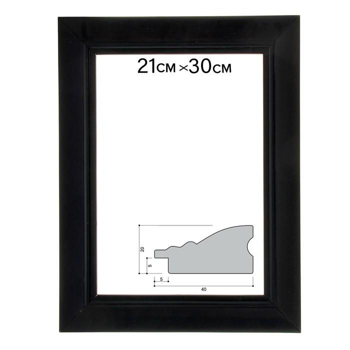 Рама для зеркал и картин 21х29,7х4 см, цвет чёрный
