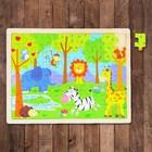 Пазл в деревянной рамке «Зоопарк», 60 элементов: 3,5 × 2,5 см - фото 105597369