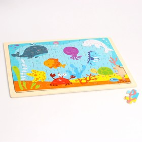 "Jigsaw puzzle in wooden frame ""In the blue sea"", 60 elements"