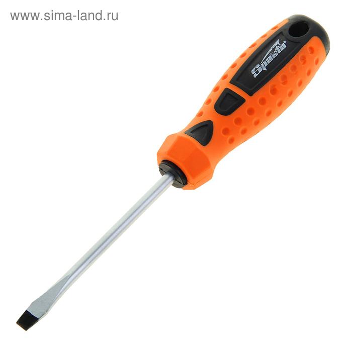 """Отвертка """"Point"""", SL6,0 х 100 мм, CrV, 2-х компонентная рукоятка"""