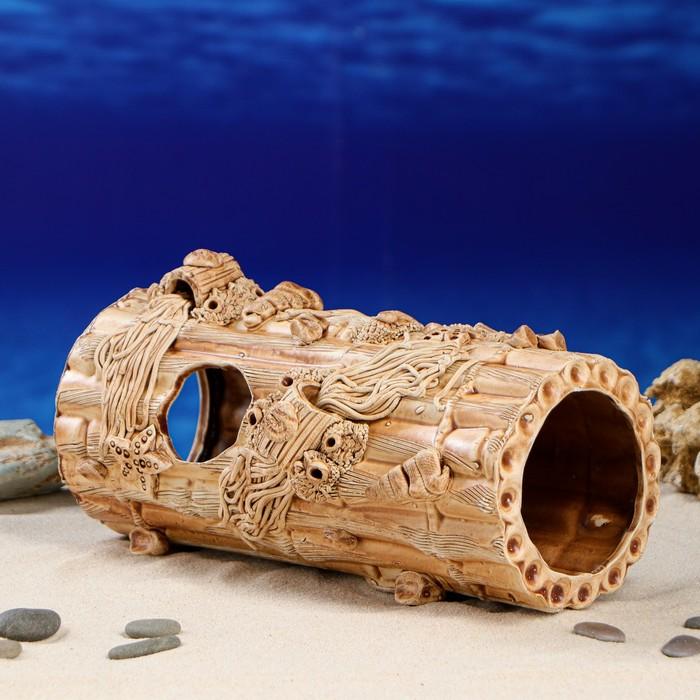 """Декорация для аквариума """"Бамбук"""" лепка, 15 х 15 х 28 см"""