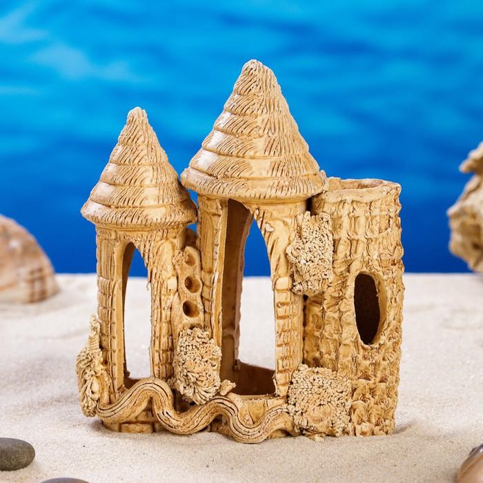 """Декорации для аквариума """"Замок и коряга"""" малый, микс"""