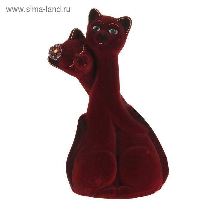 "Копилка ""Коты"" пара, бордовая"