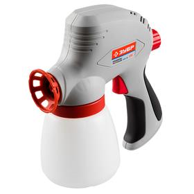 "Краскопульт ""ЗУБР"" ЗКПЭ-120, электрический, 120 Вт, 300 мл/мин, вязкость 60 DIN, 0.8 л"