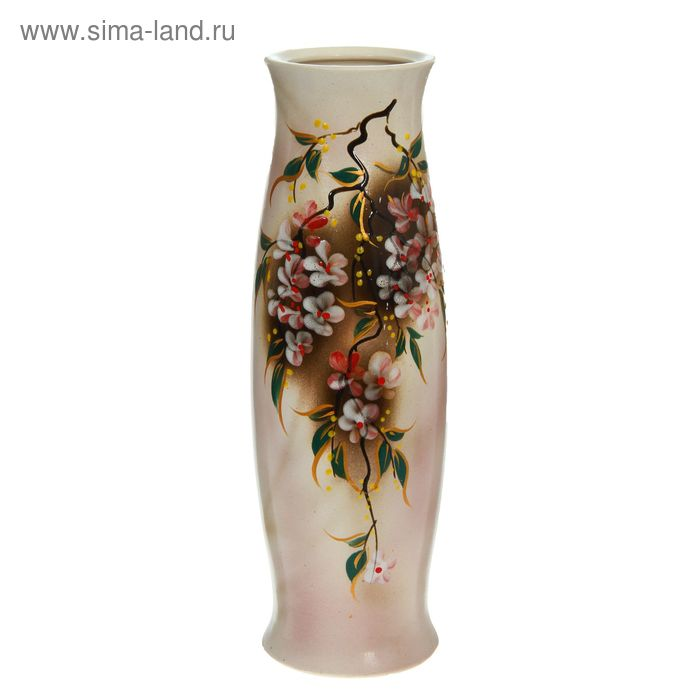"""Ваза """"Ромина"""" большая, цветы, глазурь"""