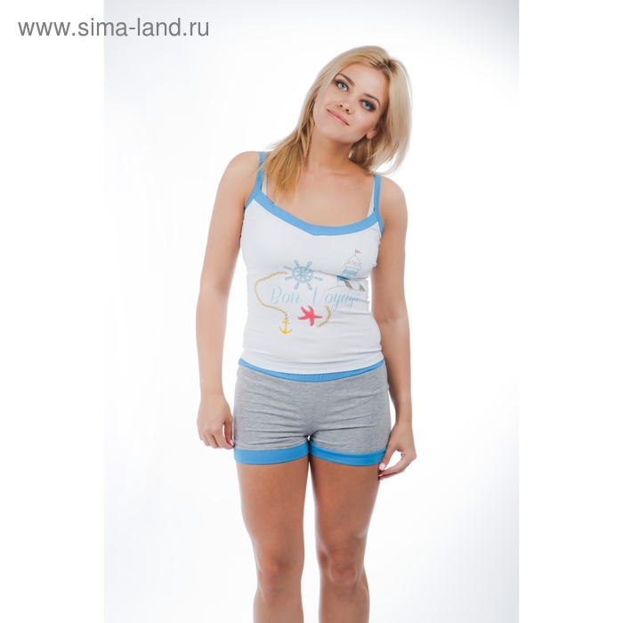 Комплект женский (топ, шорты) 14С262 П77  р-р 44
