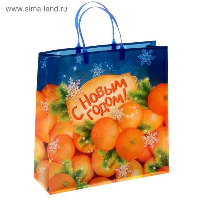 """Пакет подарочный пластик """"Мандарины"""""""