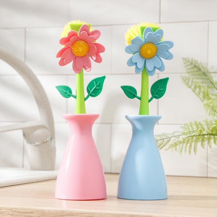 "Щетка для посуды ""Цветок"", цвета МИКС"