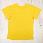 Футболка детская, рост 92 см, цвет лимонный Н004