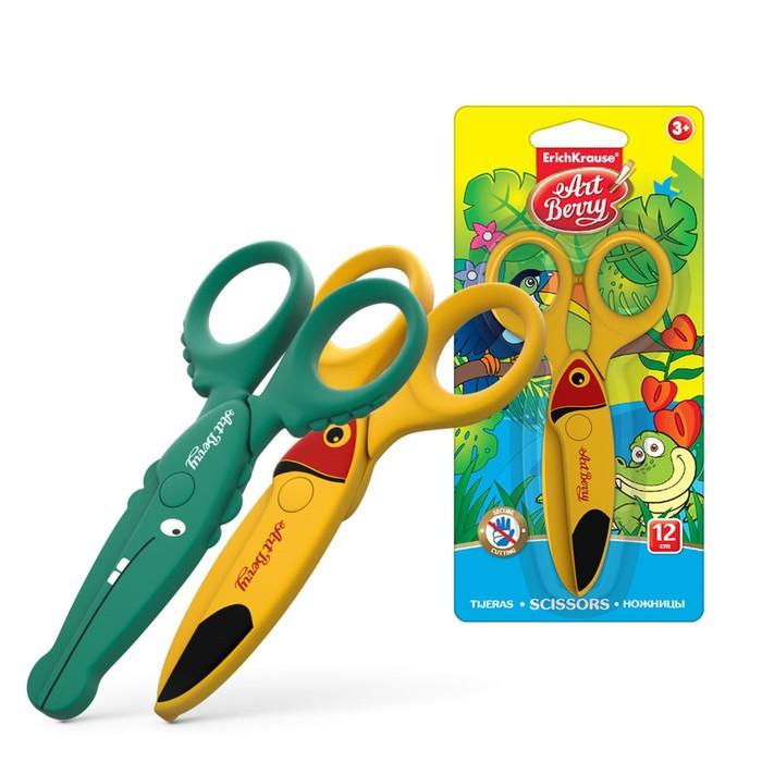 Ножницы детские пластиковые Artberry Wild Friends, режут только бумагу и картон, в блистере, микс