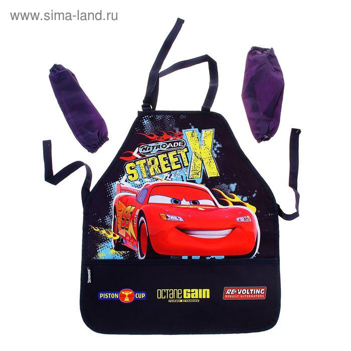 Фартук для труда + нарукавники для девочки Disney Cars 510х440