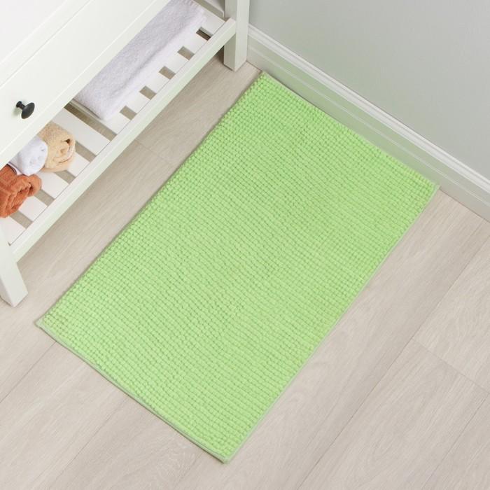 Коврик Доляна «Букли», 50×80 см, цвет зелёный - фото 7930312