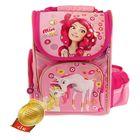 Ранец стандарт Mia and Me 35*26,5*13 эргономичная спинка, для девочки, розовый