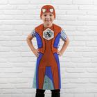 """Карнавальный костюм, раскраска """"Человек-паутинка"""", фартук + восковые карандаши 6 цв"""