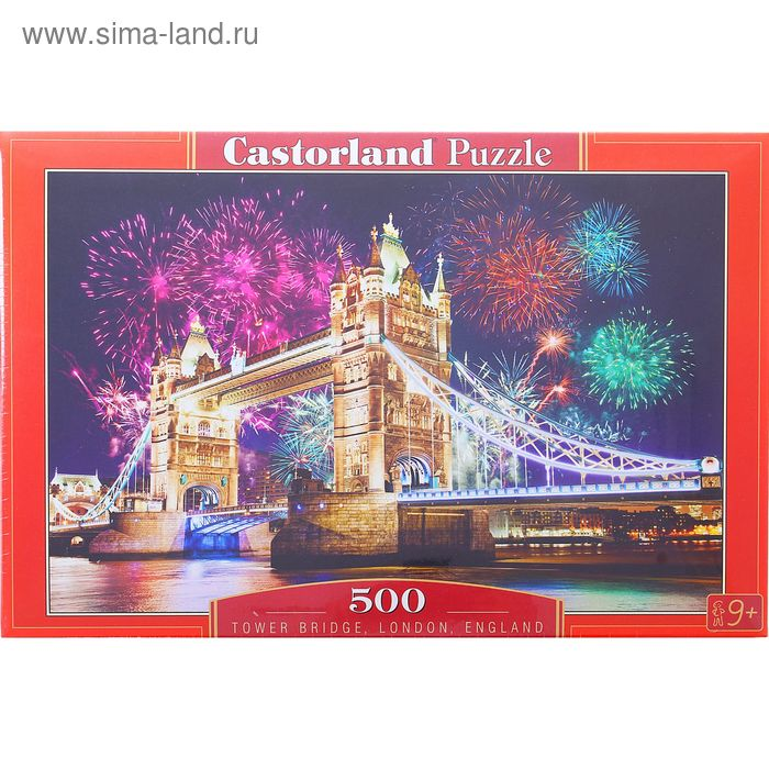 "Пазлы ""Тауэрский мост. Англия"", 500 элементов"