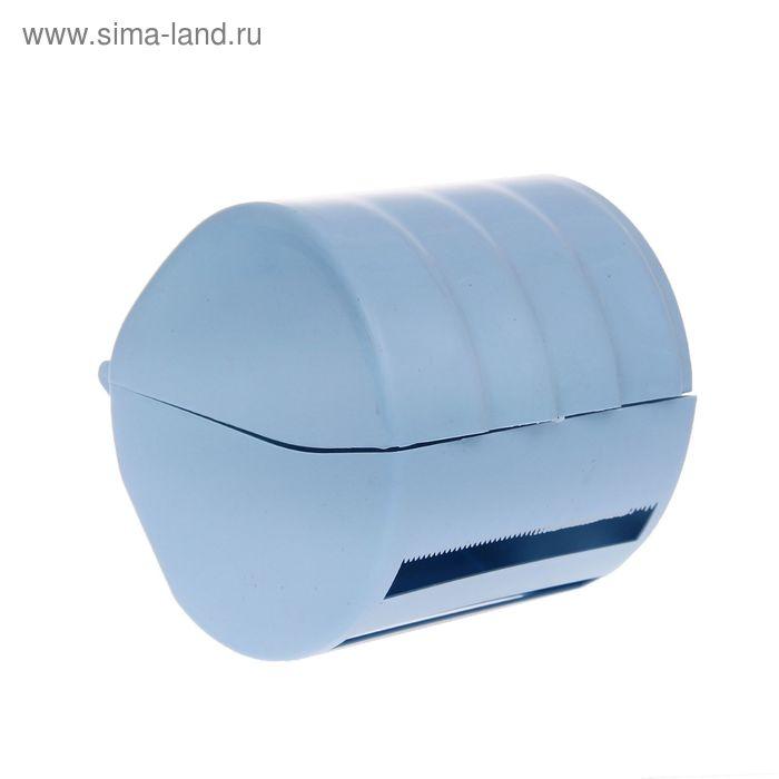 """Держатель для туалетной бумаги """"Бочонок"""", цвет голубой"""