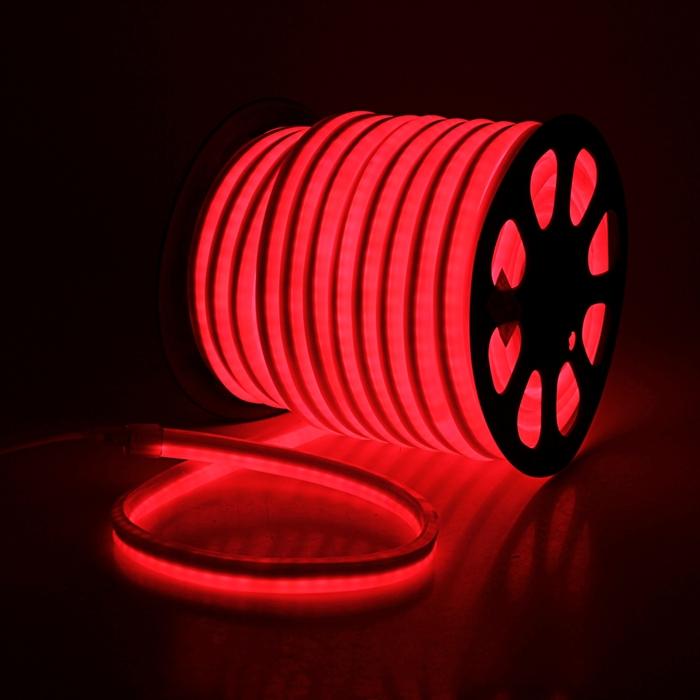 Гибкий неон, 12*24мм, 50 м, LED/м-80-220V, КРАСНЫЙ