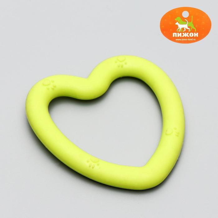 """Игрушка жевательная """"Сердце"""", TPR, 8 х 7,5 см, микс цветов"""