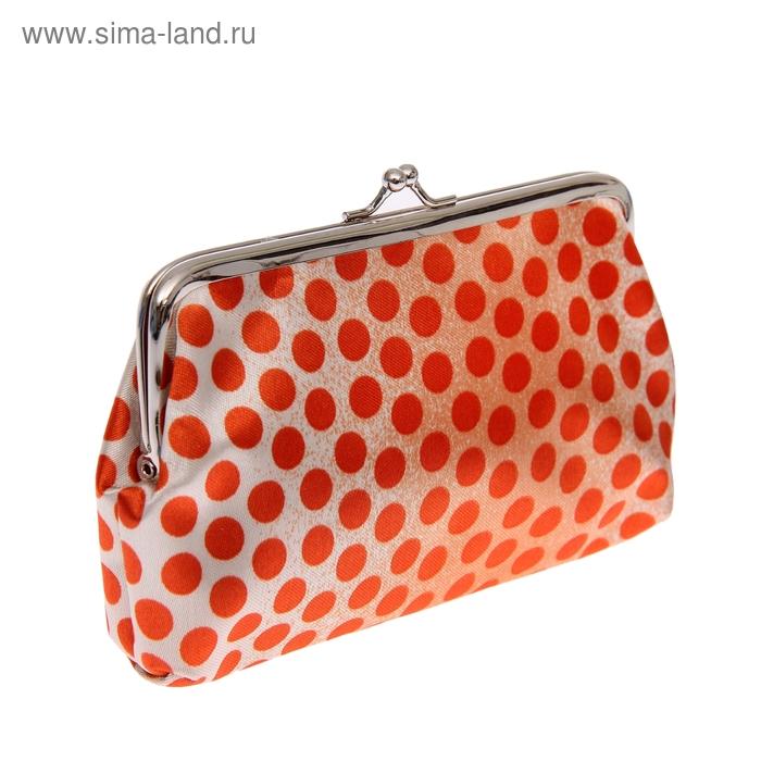 """Косметичка-ассорти """"Кружок"""", 1 отдел, цвет оранжевый"""