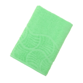 "Полотенце махровое ""Волна"", размер 70х130 см, 300 гр/м2, цвет светло-зелёный"