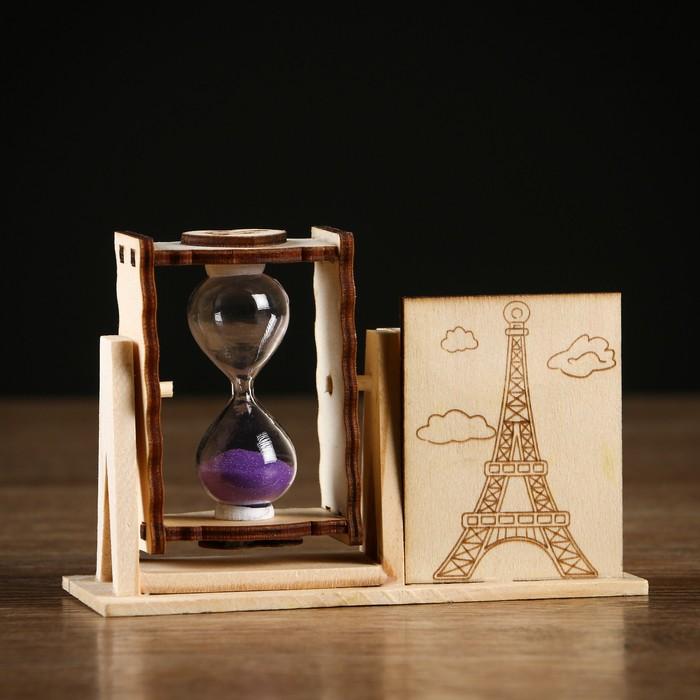 """Часы песочные """"Башня"""" с карандашницей, микс"""