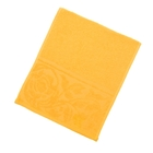 "Полотенце махровое ""Цветок"", размер 30х70 см, 300 гр/м2, цвет желтый"