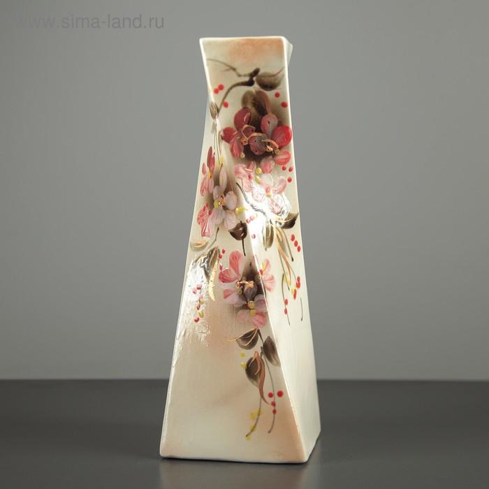 """Ваза """"Эквилибриум"""" цветы, художественная роспись"""