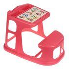 Стол-парта детская с аппликацией, цвет коралловый