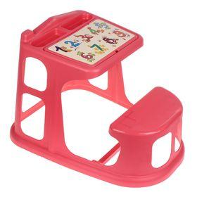 Стол-парта детская с аппликацией, цвет коралловый Ош