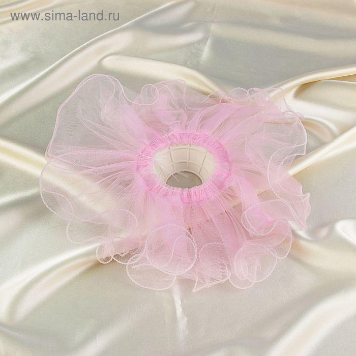 Манжетка гипюровая  розовая