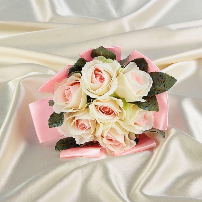 Цветов пермь, букет невесты из бутонов розы