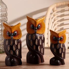 "A set of Souvenirs ""Family of owls"", 3 PCs"