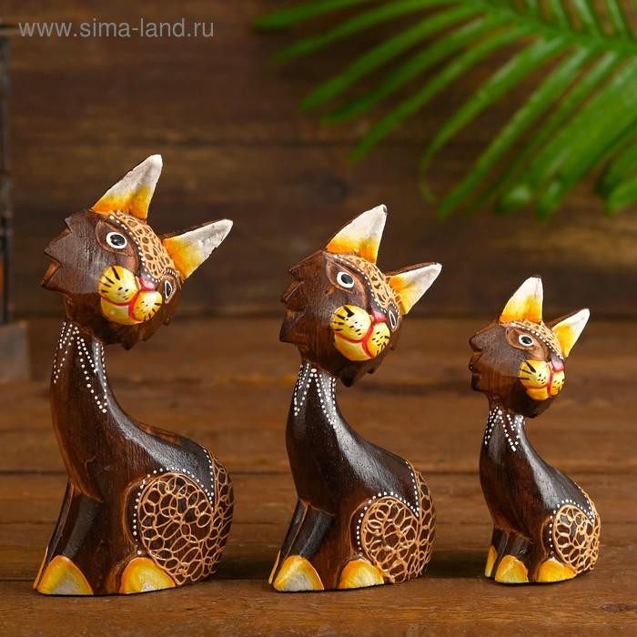 """Сувенир """"Кошки 3 сестрички"""", набор 3 шт."""