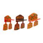 Набор кухонный «Хохлома»: полка, 2 доски разделочные, микс