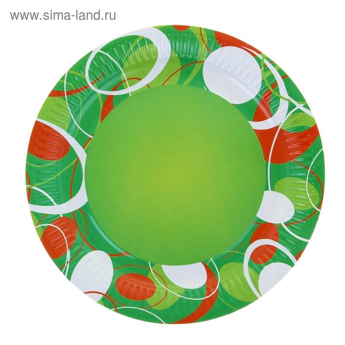 """Тарелка с ламинацией """"Зеленое настроение"""", 23 см"""