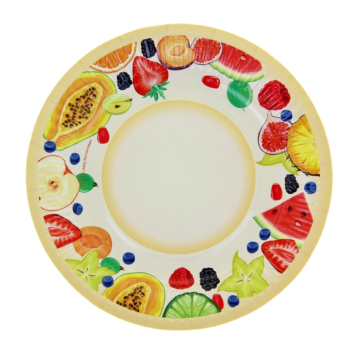 """Тарелка с ламинацией """"Фрукты"""", 18 см"""