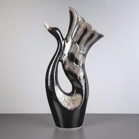 """Ваза напольная """"Лебедь"""" чёрная, 51 см, микс - фото 1702382"""