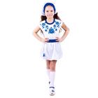Юбка для девочки, печать справа, рост 128 см (64), цвет белый