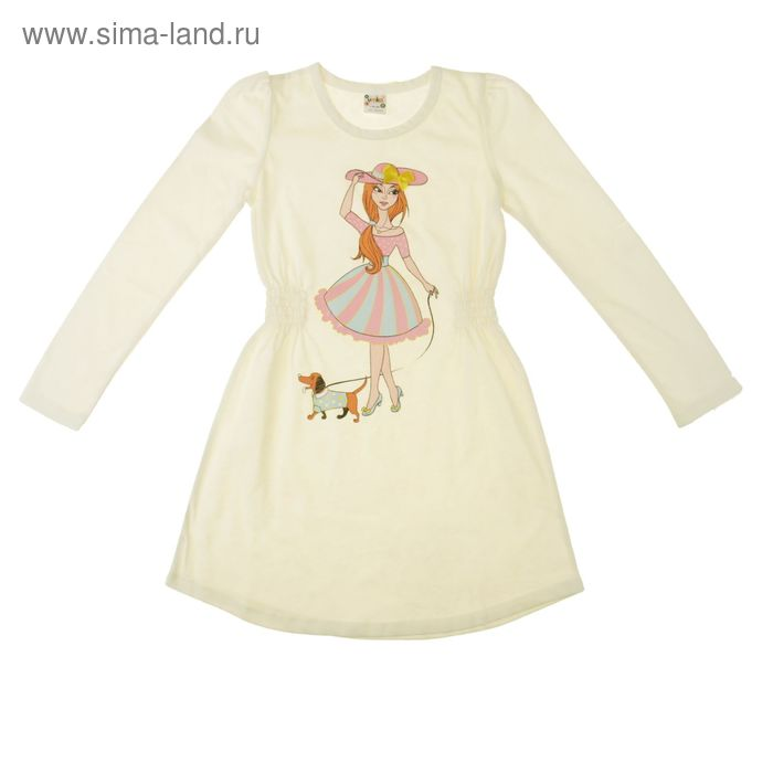 Платье для девочки длинный рукав, рост 92 см, цвет МИКС AZ-740