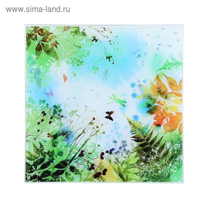 "Картина на стекле ""Цветочная поляна"""
