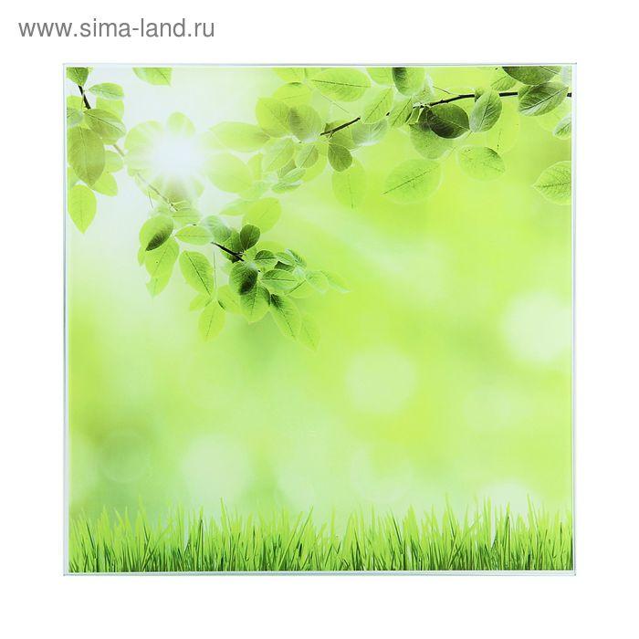 """Картина на стекле """"Зелёная трава"""""""