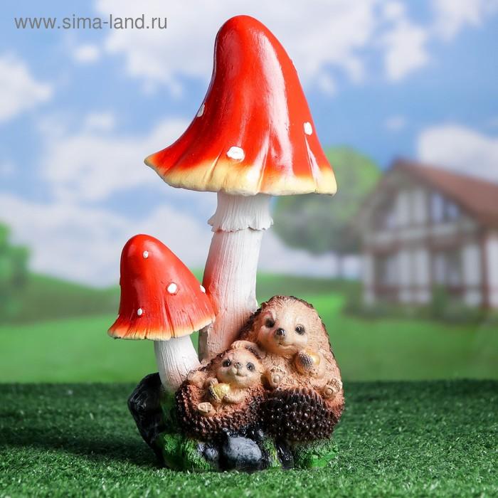 """Садовая фигура """"Ежи под грибами"""""""