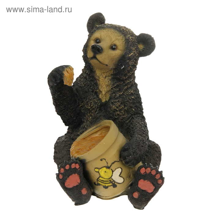 """Садовая фигура """"Медведь с мёдом"""""""