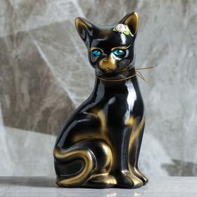 """Копилка """"Кошка Лиза"""", покрытие лак, чёрная, 23 см"""