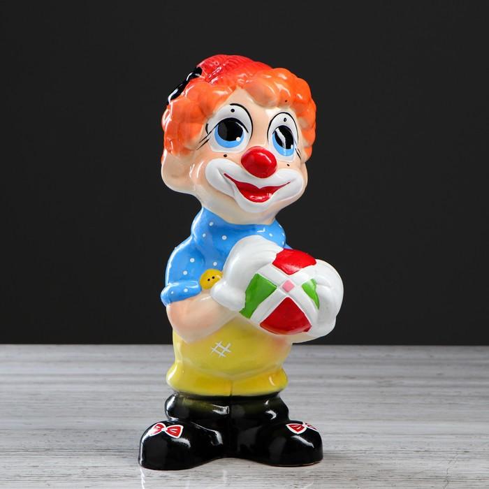 """Копилка """"Клоун"""", глазурь, разноцветная, 30 см, микс"""